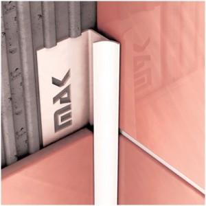 Угол для плитки МАК 7 мм внутренний белый
