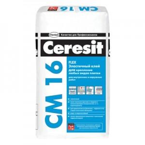 Клей для плитки эластичный Ceresit CM16, 25 кг