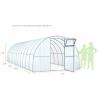 Теплица Садовод Элит 40 в сборе с поликарбонатом 4 мм (труба 40*20*0,8мм), 6 м