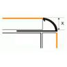 Угол для плитки МАК 9 мм наружный белый
